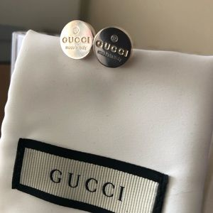 Gucci Round Trademark Stud Earrings